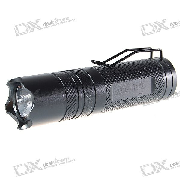UltraFire A40 220-Lumen GITD 5-Mode Memory LED Flashlight w/ Cree Q5-WC (1*CR123A) fandyfire f102 r2 wc 5 mode 250lm white led memory flashlight 1x18650 1x17670 2x16340 2x123a