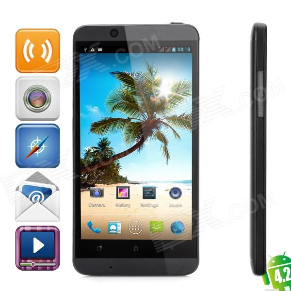 CUBOT ONE Quad-Core Android 4.2 WCDMA Bar Phone w/ 4.7HD, Wi-Fi, GPS and Dual-SIM  -Black - DXAndroid Phones<br>Brand CUBOT Brand CUBOT Model ONE Quantity 1 Set Material Plastic Color Black Shade Of Color Black Networking WCDMAGSM Frequency GSM850/900/1800/1900MHz WCDMA 850/2100 MHz Data Transfer GPRSHSPAEDGE SIM Type Ordinary SIM SIM Slot 2 Network Standby Dual Network Standby Network Conversation One-Party Conversation Only GPS Yes Wi-Fi Yes Type Brand New Operating System Android 4.2.1 Form Factor Bar Phone CPU Processor MT6589 Cortex A7 1.2GHz CPU Type Quad-Core Language Japanese Simplified Chinese Traditional Chinese Catalan Czech Danish German English Spanish Filipino French Croatian Italian Latvian Lithuanian Hungarian Dutch Norwegian Polish Portuguese Latin Slovak Slovenian Finnish Swedish Vietnam Turkish Greek Bulgarian Russian Serbian Ukrainian Hebrew Arabic Persian Hindi Thai Korean Released Time 2013 RAM 1GB ROM 8GB Available Memory 6.5GB Memory Card Support Micro SD / TF card up to 32GB Screen Size 4.7 inch Size Range 4.5-4.9 Inches Touch Screen Capacitive Screen Screen Resolution 1280 x 720 Pixels Camera 13.0 MP Secondary Camera Lens 5.0 MP Flash Yes Auto Focus Yes Touch Focus Yes Battery Capacity 2200 mAh Battery Type OthersLithium Talk Time 480 minutes Standby Time 200 Hour Keyboard Touch Screen Bluetooth Version V2.0 TV No Radio Tuner Yes waterproof level OthersN/A Sensor G-sensorproximity I/O Interface Micro USB3.5mmSIM SlotOthersTF slot Format Supported Video player: 3GP / MP4 Audio player: MIDI / MP3 / AAC Image: JPEG Software Google play E-mail Music Todo Browser Calculator FM Sound Recorder Other Features Quad-Core Support 3G / HSDPA fast Internet access Android 4.2.1 intelligent mobile phone Packing List 1 x Phone 2 x Battery (2200mAh) 1 x 100~240V 2-round-pin plug power adapter 1 x Earphone (110cm) 1 x Data cable (90cm) 1 x English manual 1 x Screen protector 1 x Case<br>