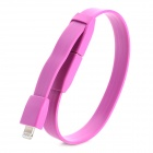 Wristband Style USB 2.0 to 8-Pin Lightning Data/Charging Cable for iPhone 5 / iPad 4 - Purple