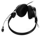 OVLENG OV-Q4 USB Connector Wired Headset w/ Microphone - Black
