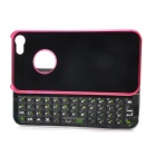 Rechargeable Bluetooth V3.0 Wireless Slide-out 49-Key Keyboard Hard Case for Iphone 5 - Deep Pink