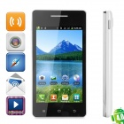 """KICCY S77 Android 4.0 GSM Bar Phone w/ 4.0"""" Capacitive Screen, Wi-Fi and Quad-Band - Black + White"""