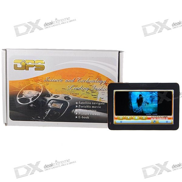 4.3 LCD 372MHz Windows CE. NET 5.0 Core Bluetooth + GPS Navigator w - FM-zender Maps + 2GB SD