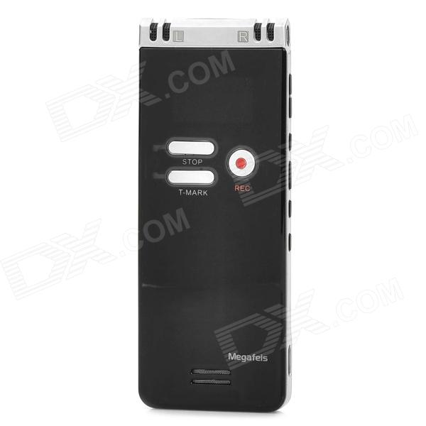 "Megafeis F36 1.1"" Long Distance LED Rechargeable Voice Recorder - Black + Silver (8GB)"