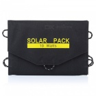 10.5W USB Output Foldable Portable Solar Panel Charger - Black