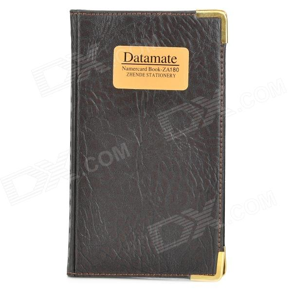 SW009 Portable 180-in-1 PU + PVC Business Cards Book - Black