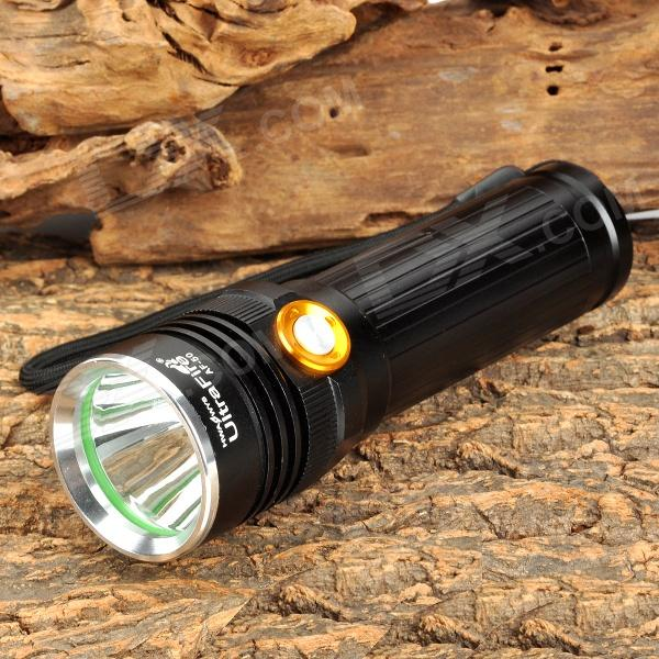 UltraFire AF-50 600lm 3-Mode White Flashlight w/ CREE XM-L U2 - Black (1 x 18650 / 26650) ultrafire lzz 1 600lm 4 mode white bicycle headlamp w cree xm l u2 black golden 4 x 18650