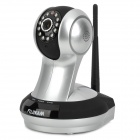 FUJIKAM FI-361 CMOS 1.0MP P2P HD Cloud Wireless IP Camera w/ 12-IR LED / Wi-Fi / TF - Silver + Black