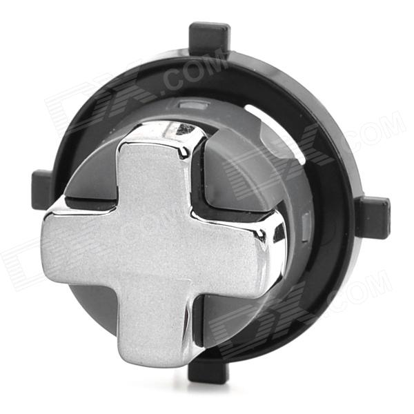 Replacement Rotating Transforming Chrom Plated D-Pad Button for XBOX 360 Slim - Black + Grey