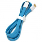 Flat 8 Pin USB-Daten-& Ladekabel w / Cable Clamp für iPhone 5 - Blau + Weiß (120 cm)