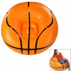 Basketball Style PVC Air Inflatable Chair - Orange + Black