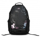 "Shishapangma Fabric + Sponge Backpack for 10~14"" Computer - Black + Pink"