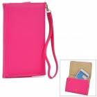 Multifunction Protective PU Case / Wallet w/ Card Slots for Samsung  i9200 + More - Deep Pink