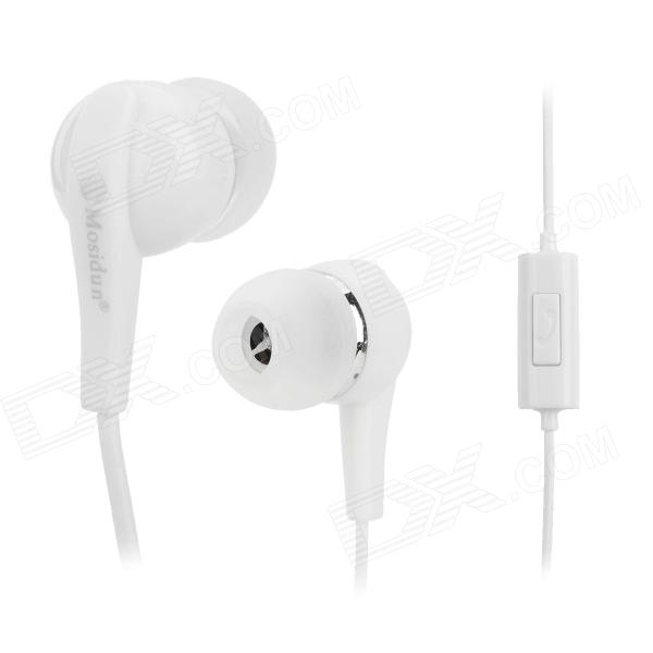 MOSIDUN MSD-2151 Stylish In-Ear Earphone for Samsung Galaxy S4 i9500 / S3 i9300 / N7100 - White clear lcd screen protector guard cover film shield for lenovo p780