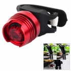 YH-002 Bicycle 3-Mode LED Tail Lamp - Red + Black (2 x CR2032)