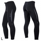 NUCKILY ZM096 Elastic Fiber Sports Cycling Trousers for Men - Black (Size-L)