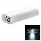 Universelle tragbare 5200mAh External Battery Charger - White