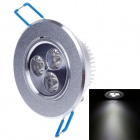 FUDI 3W 240lm 6000K 3-LED White Light Ceiling Lamp - Silver (220V)