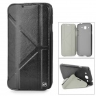 HOCO HS-L035 Cool Protective PU Leather + PC Case for Samsung Galaxy Mega 5.8 i9150 - Black