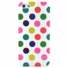 Protective Colorful Polka Dot Pattern Silicone Back Case for  Iphone 5 - White
