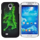 Cool 3D Horse Style Protective Back Case for Samsung Galaxy S4 i9500 - Green + Black