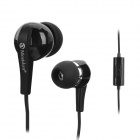 MOSIDUN MSD-2151 Stylish 3.5mm Jack In-ear Headset w/ Microphone for Samsung S4 / S3 / N7100 - Black
