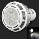 GU10 5W 445lm 6500K 5-LED White Spotlight Bulb - Silver
