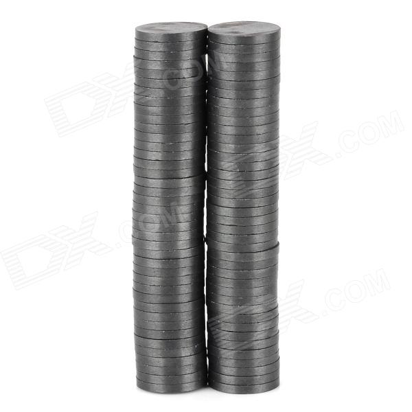 Round Shaped Ferrite Magnets Plates for DIY - Black (12 x 1.5mm / 80 PCS) nicuzn ferrite