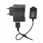 USB Charger + 100~240V EU Plug Power Adapter for Electronic Cigarette - Black