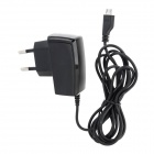 EU Plug Power Adapter AC Charger for Samsung i9500 / i9300 / i8190 - Black (100~240V)