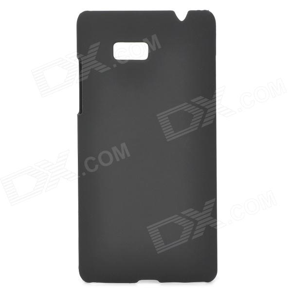 Stylish Protective PC Back Case for HTC 606W - Black