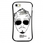 Newtop Stylish Cool Man Pattern Protective Plastic Back Case for Iphone 5 - White + Black