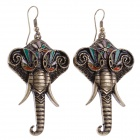 Retro Elephant Style Women's Earrings - Bronze (Pair)