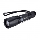 SingFire SF-708 5-Mode 800lm White Zooming Flashlight w/ CREE XM-L T6 - Black + Silver (1 x 18650)