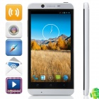 "K7 MTK6589 Quad-Core Android 4.2.1 WCDMA Bar Phone w/ 4.7"" HD, Wi-Fi, FM and GPS - Black + Silver"