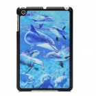 3D Dolphin Style Back Case for iPad Mini - Blue + Black