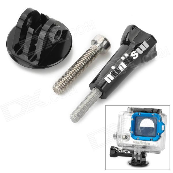 Miniisw M-BH Aluminum Alloy Bike Headset Mount w/ Long Screw for Gopro Hero 4/ 3 / 2 / 1 / SJ4000 din912 304 stainless steel screw hex socket smooth cup head cylindrical head three combination m2 5 m3 m4 m5 m6 screw washer