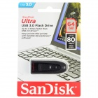 Sandisk SDCZ48-064G Ultra USB 3.0 Flash Drive Disk - Grey+Black (64GB)