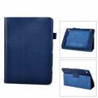 Stylish Litchi Pattern Flip-open PU Leather Case w/ Holder for Acer A1-810 - Sapphire