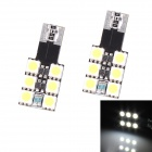 T10 1.2W 108lm 6000K 6-SMD 5050 LED White Decoding Turn Signal Light, Parking Lamp - (12V / 2 PCS)