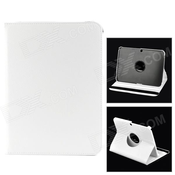 Stylish Sheep Skin Case w/ 360' Rotating Back Case for Samsung Galaxy Tab 3 / P5200 / P5210 - White skinbox p5200 skinbox rotating 360 для samsung p5200
