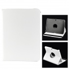 Stylish Sheep Skin Case w/ 360' Rotating Back Case for Samsung Galaxy Tab 3 / P5200 / P5210 - White