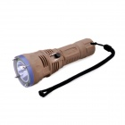 TrustFire TR-DF001 Cree XM-L2 T6 650lm 2-Mode White Diving Head Flashlight - Khaki (1 x 26650)