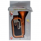 Protective Plastic Back Case w/ Megaphone for Iphone 5 - Deep Orange