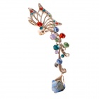 Fashionable Butterfly Style Left-Ear Earring w/ Shiny Rhinestone - Multicolored