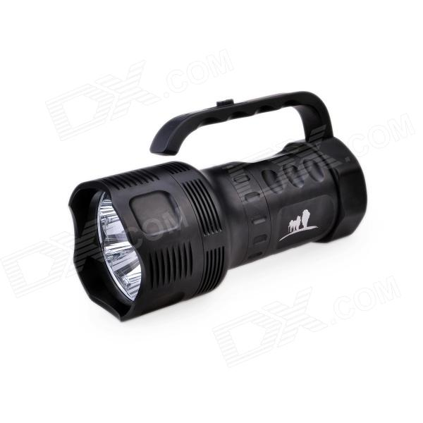 TrustFire TR-S700 7 x LED 1-Mode 3000lm Cool White Portable Flashlight - Black (3 x 26650)