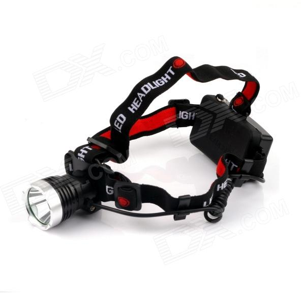 NITEFIRE NFH-11 450lm 3-Mode White Headlamp w/ CREE XM-L T6 - Black + Silver (1 x 18650) 600lm 3 mode white bicycle headlamp w cree xm l t6 black silver 4 x 18650