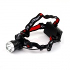 NITEFIRE NFH-11 450lm 3-Mode White Headlamp w/ CREE XM-L T6 - Black + Silver (1 x 18650)