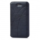 Protective PU Leather + Plastic Case for Iphone 4 / 4S - Dark Blue