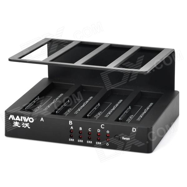 MAIWO K305A 4-slot USB3.0 + eSATA + RAID HDD Dock Station - Black (24TB Max.)HDD Dockings<br>ModelK305AQuantity1Form  ColorBlackMaterialPlastic+Form Factor2.5,3.5Powered ByUSBSlotSATASlot Number1,2,3,4,5,6,7,8,9,10Packing List1 x HDD Docking4 x HDD brackets1 x USB3.0 cable (90cm)1 x Power Adapter (110cm)1 x UK Plug Power Cord (110cm)1 x Disc1 x eSATA cable (50cm)1 x User Manual<br>